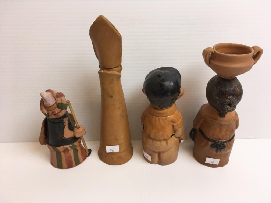 6 PCS OF TERRA COTTA / POTTERY FIGURES - 3
