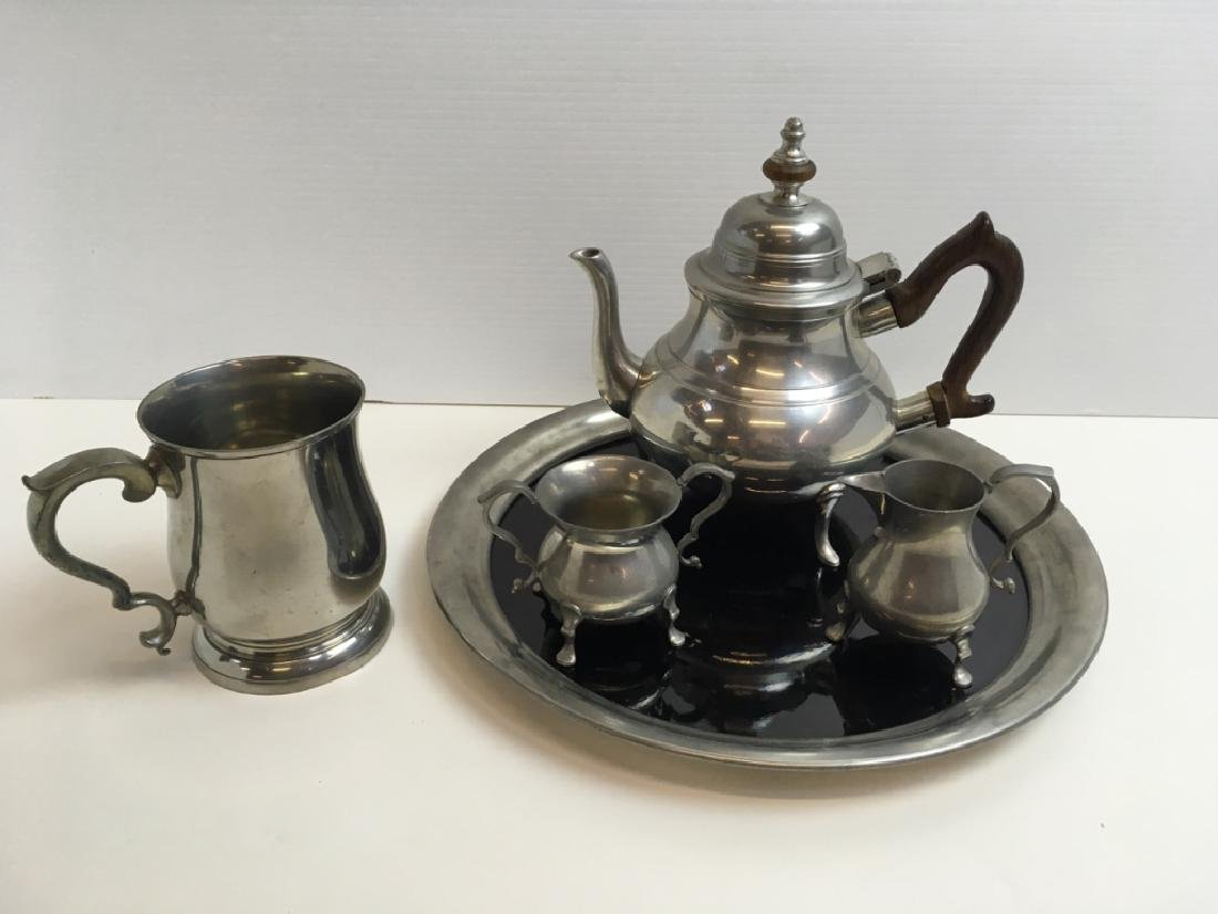 5 PCS OF STIEFF WILLIAMSBURG & KIRK PEWTER