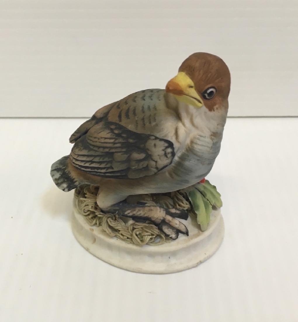 5 HAND PAINTED PORCELAIN BIRD FIGURINES - 15