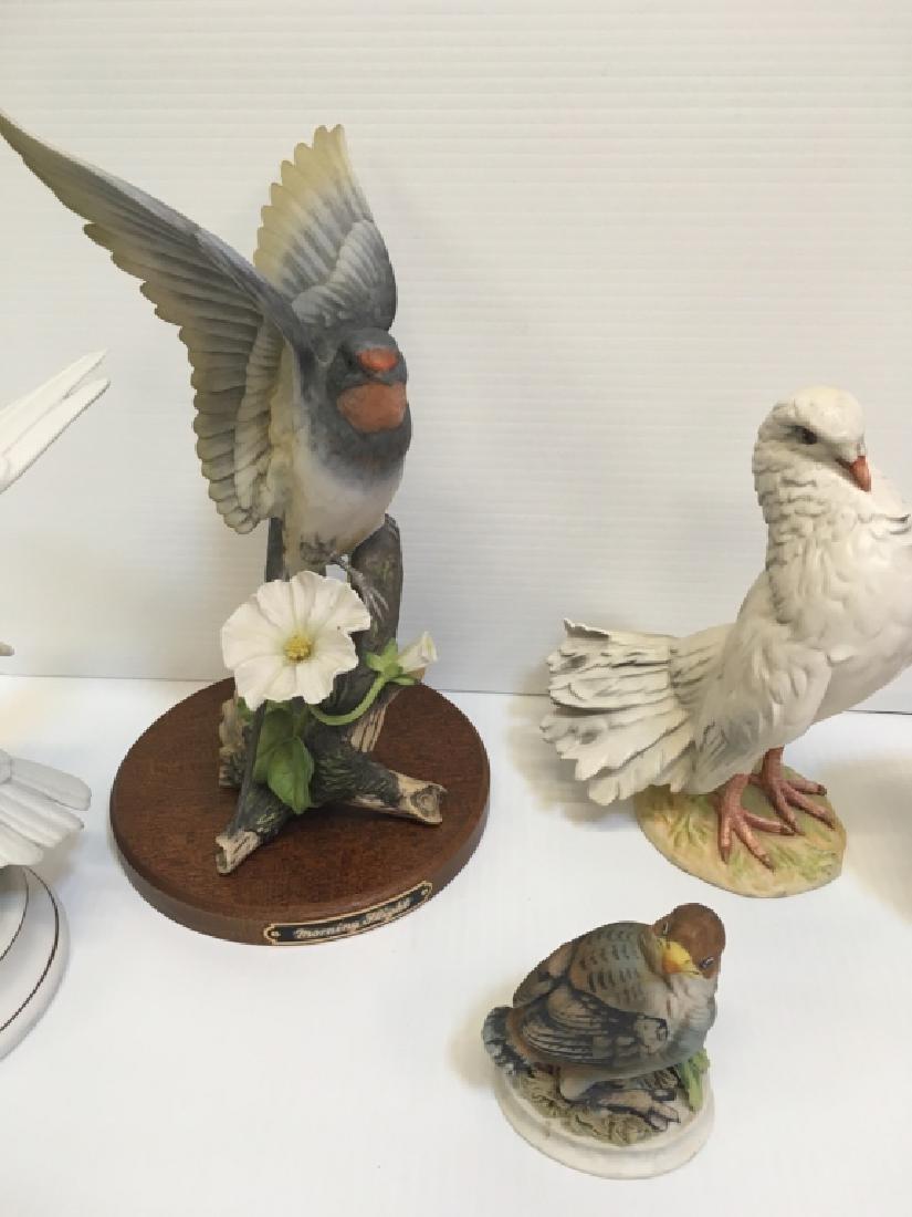 5 HAND PAINTED PORCELAIN BIRD FIGURINES - 3
