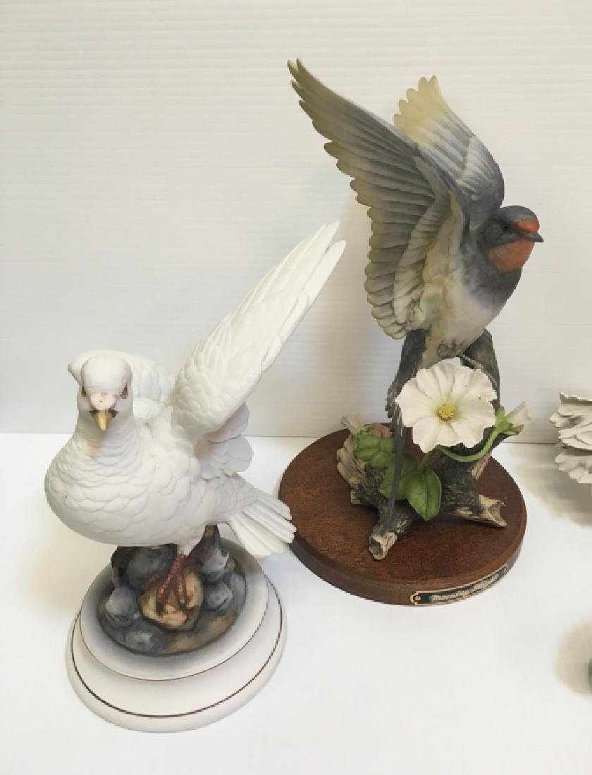 5 HAND PAINTED PORCELAIN BIRD FIGURINES - 4