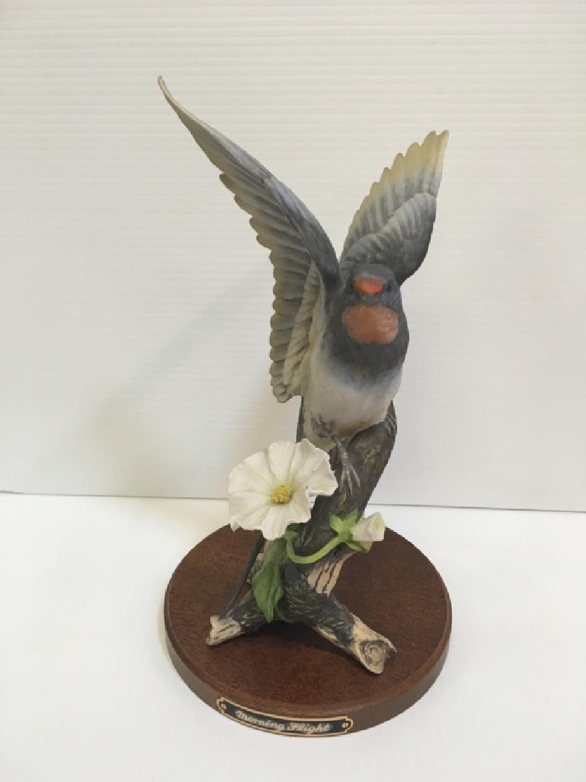 5 HAND PAINTED PORCELAIN BIRD FIGURINES - 6