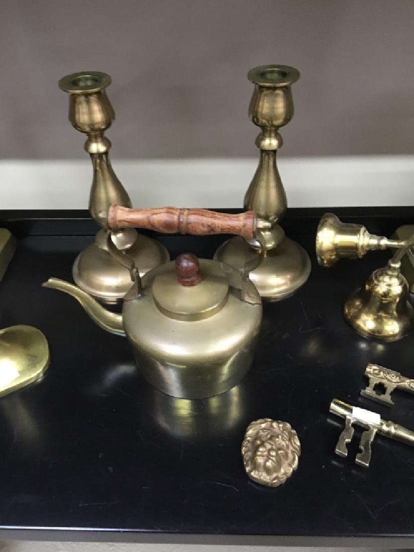 12 PCS OF BRASS WARE - 4