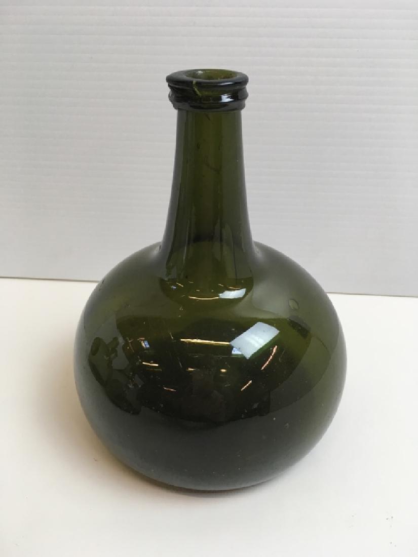 4 HAND BLOWN BOTTLES & SOUVENIR GLASS SEAL - 6