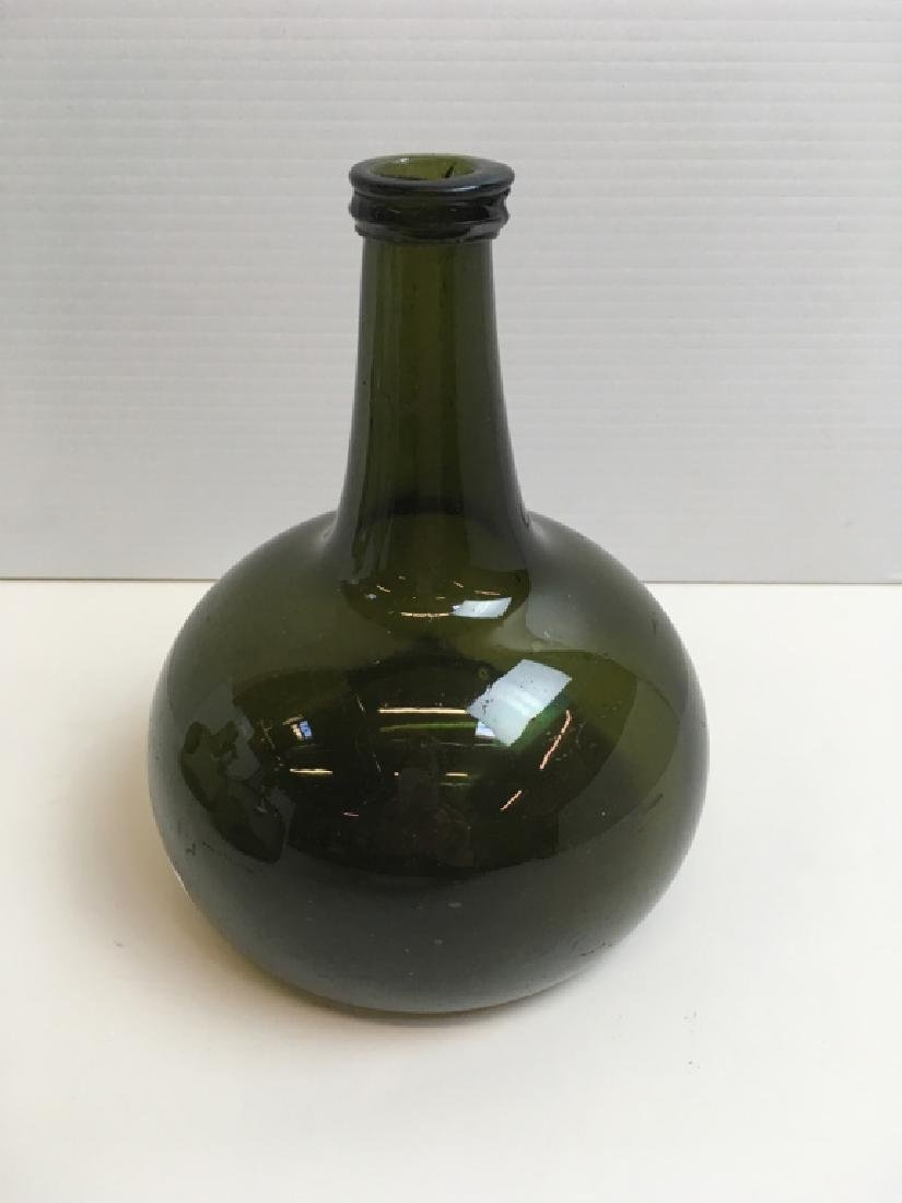 4 HAND BLOWN BOTTLES & SOUVENIR GLASS SEAL - 7