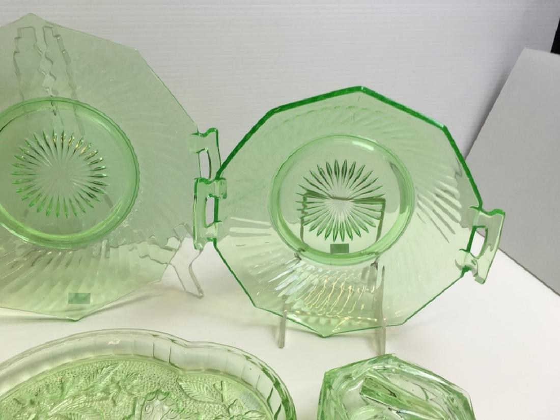 9 PCS OF VINTAGE ELEGANT & DEPRESSION GLASS WARE - 2