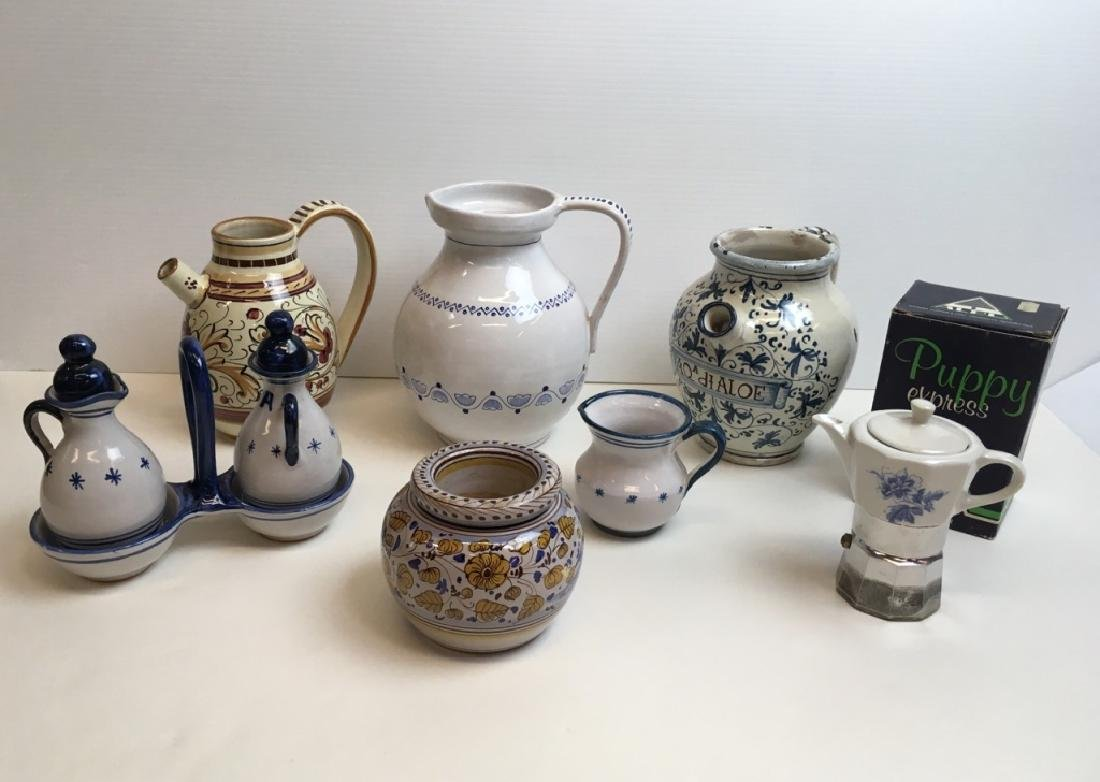 7 PCS OF ITALIAN / GREEK POTTERY