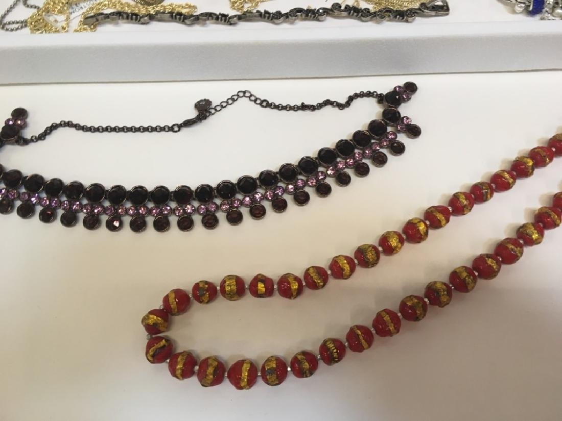 ASSORTED PCS OF COSTUME JEWELRY - 8