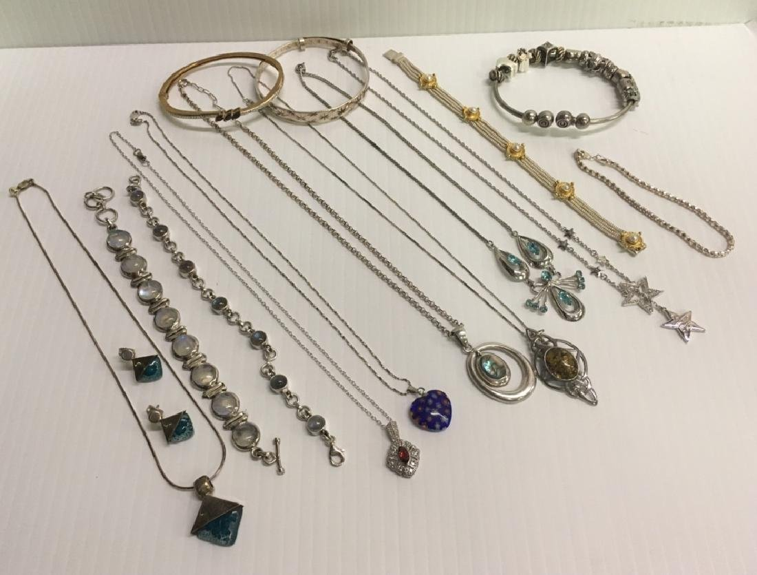 TRAY LOT OF STERLING / 925 JEWELRY
