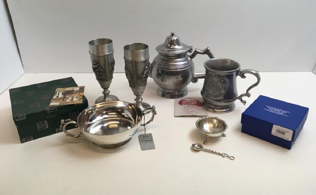 6 PCS OF PEWTER
