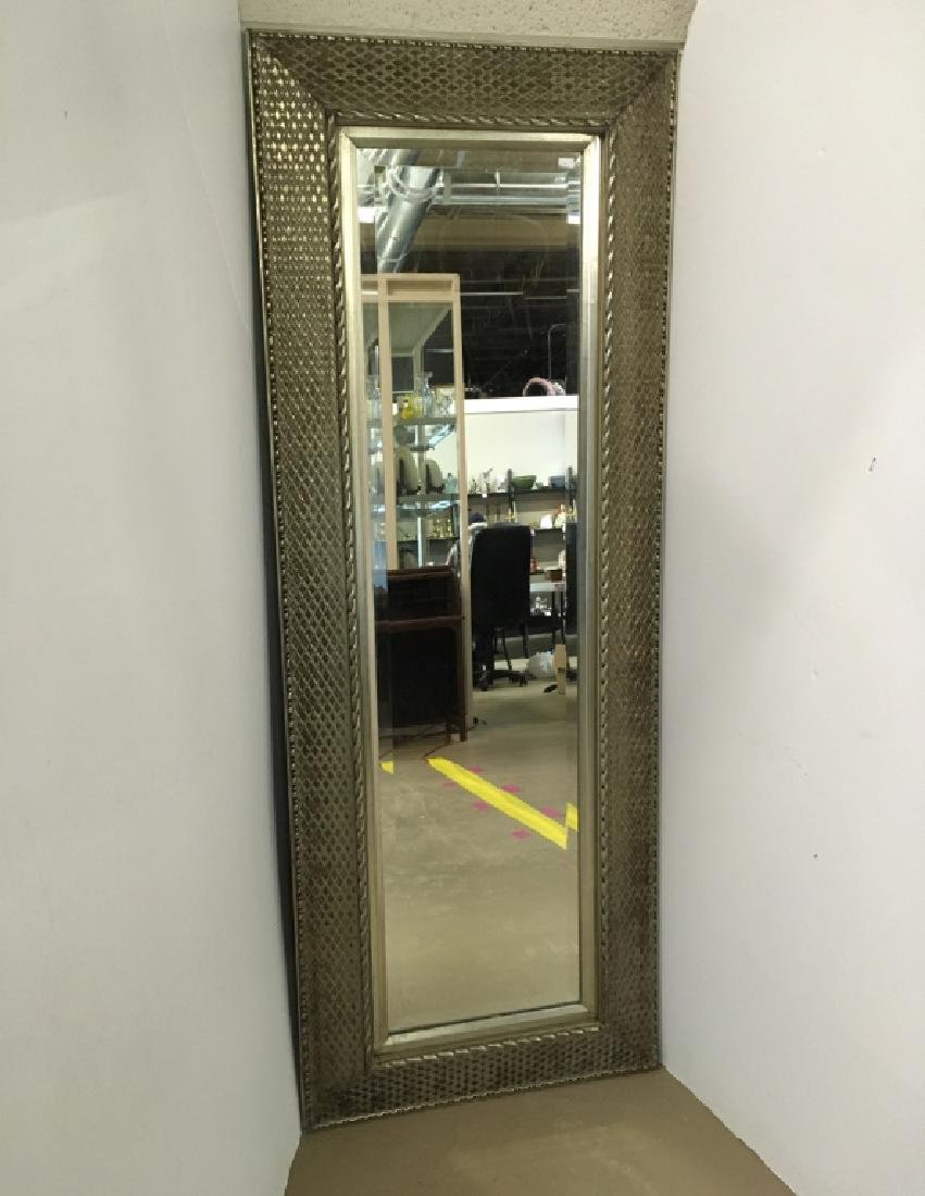 SILVERED FRAMED MIRROR & VANITY BENCH - 4