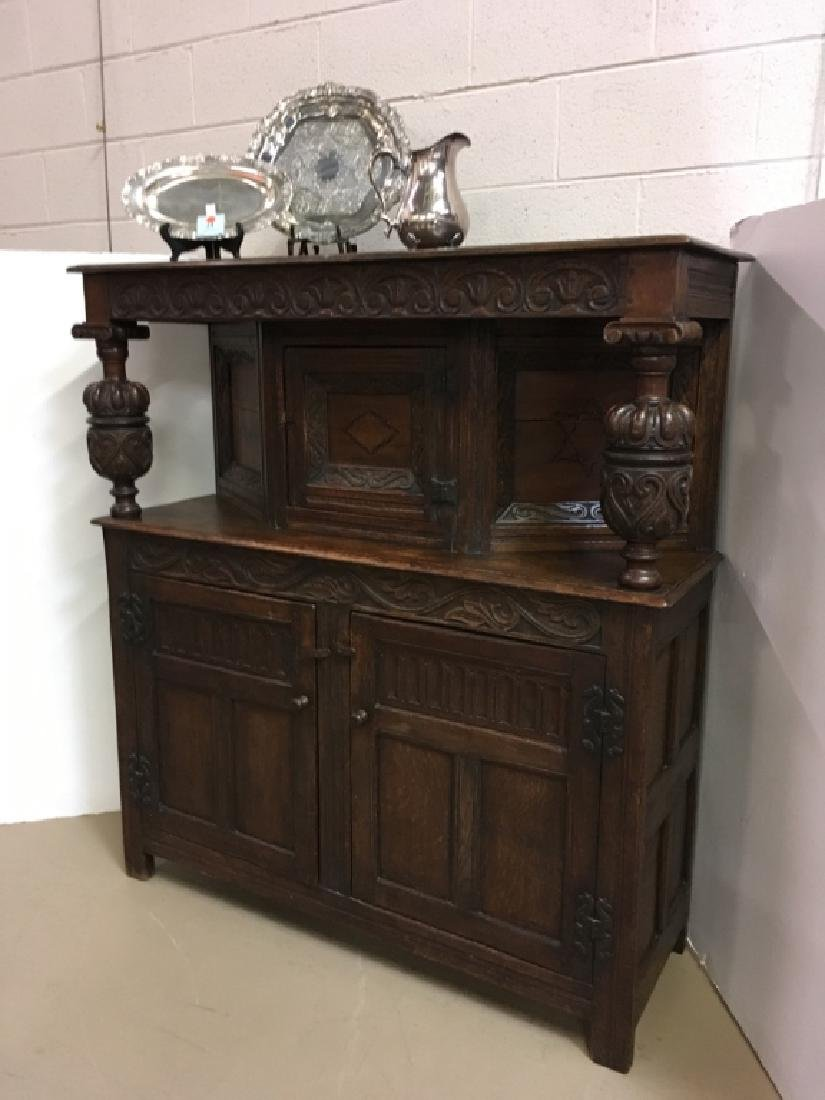ANTIQUE ENGLISH OAK COURT CUPBOARD