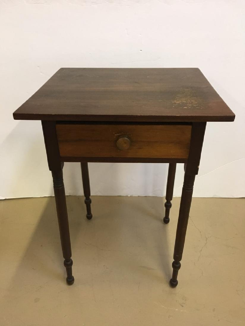 PRIMITIVE ONE DRAWER WORK TABLE