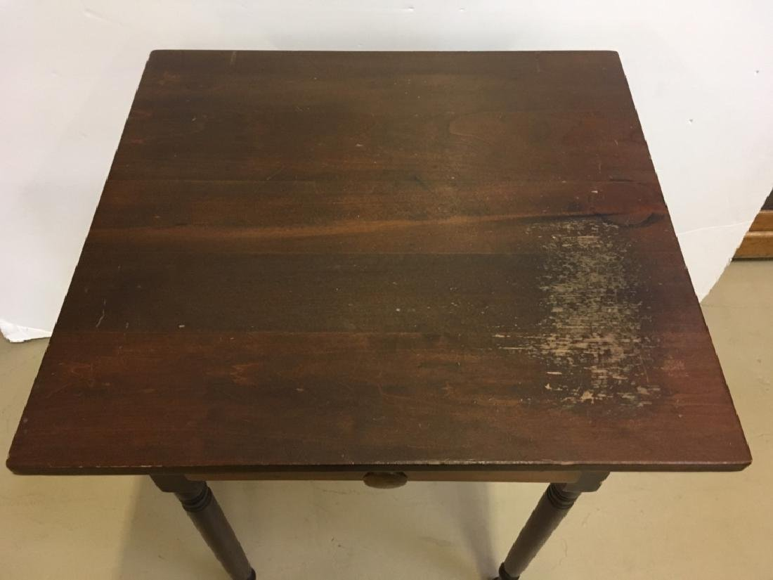 PRIMITIVE ONE DRAWER WORK TABLE - 2
