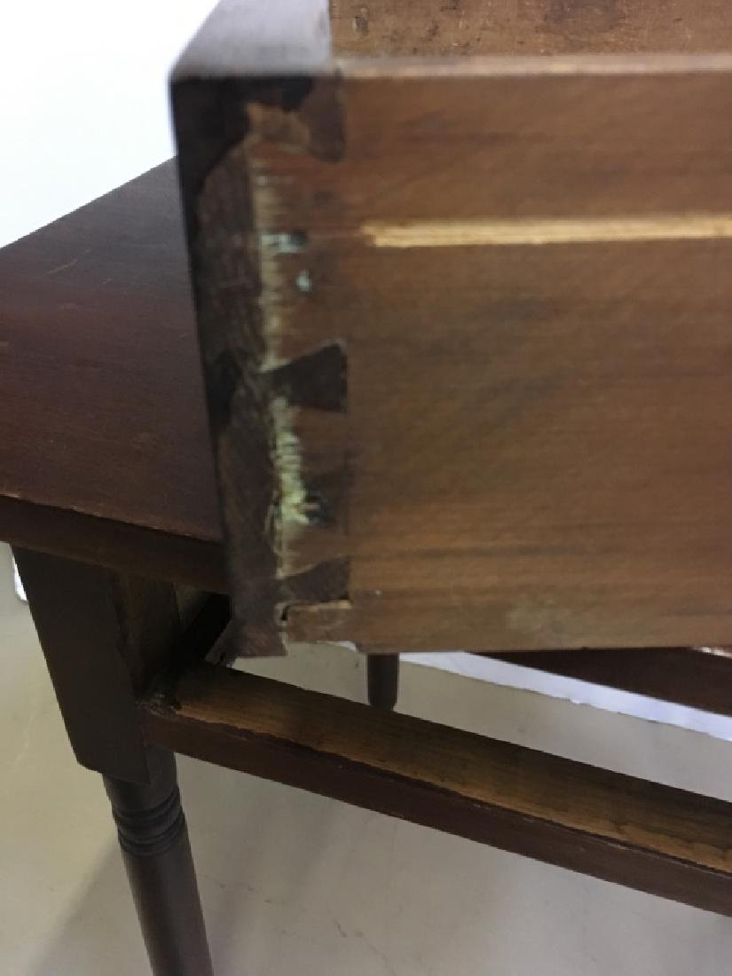 PRIMITIVE ONE DRAWER WORK TABLE - 5