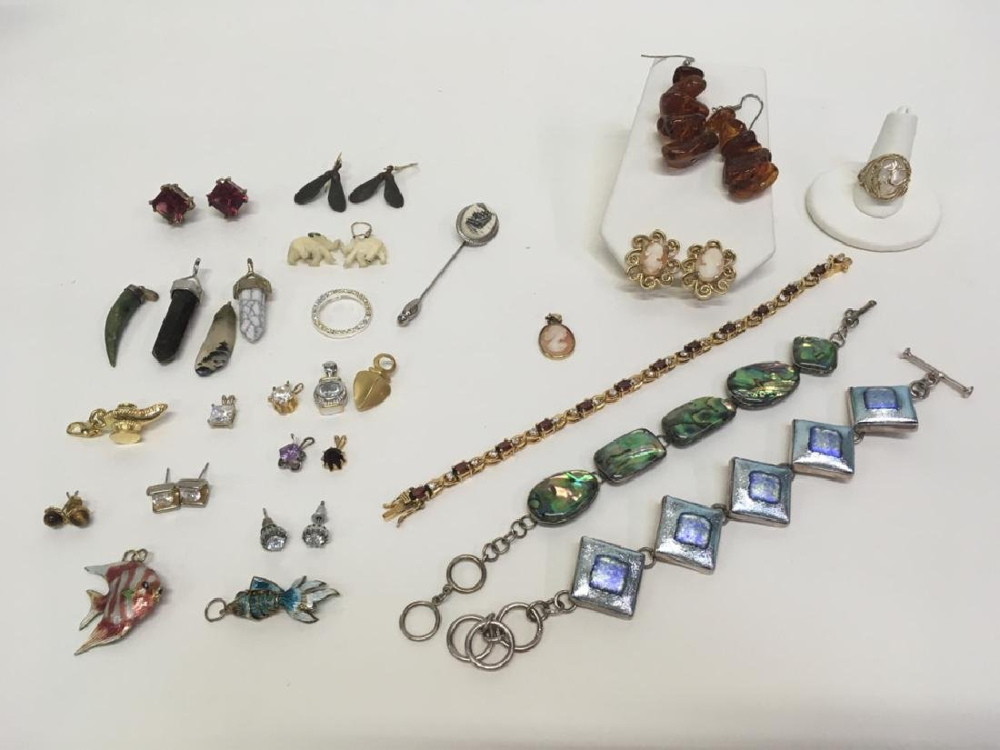 ASSORTED PCS OF 925 & COSTUME JEWELRY