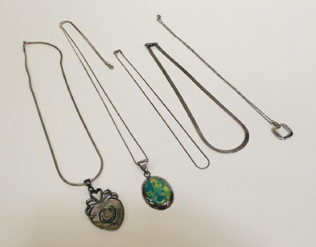 5 STERLING / 925 NECKLACES - CHAINS & PENDANTS