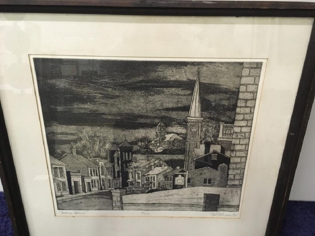 "FRAMED ENGRAVING - CARL JOHNSON ""GALENA SPIRES"" - 5"