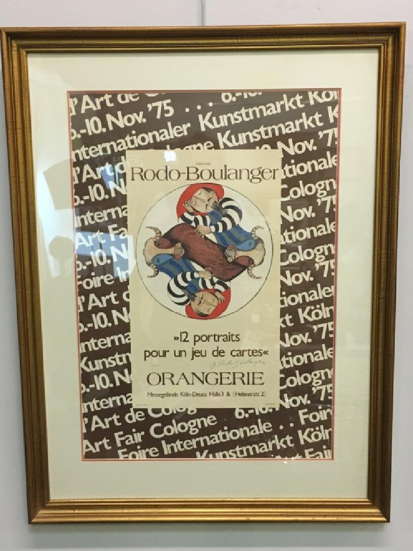 FRAMED LITHOGRAPH BY GRACIELA RODO BOULANGER - 2