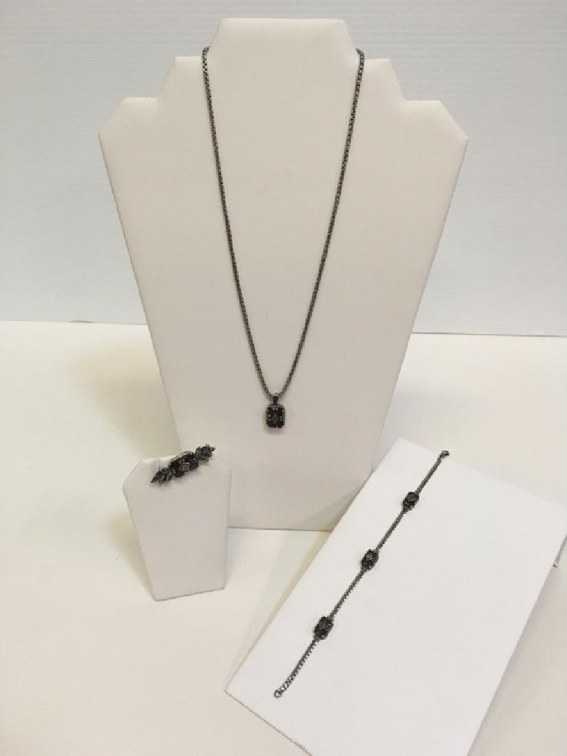 3 PC SET MARCASITE & STERLING JEWELRY