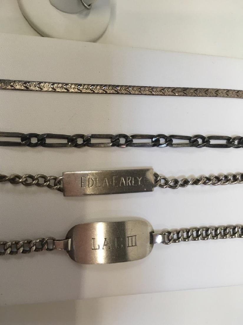 5 PCS STERLING / 925 JEWELRY - 1 RING, 4 BRACELETS - 3