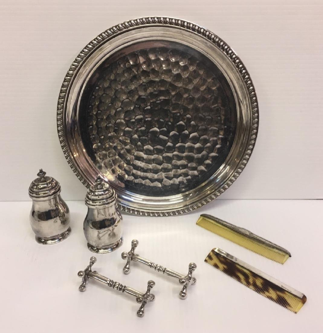 6 PCS OF SILVER PLATE & 1 PC OF STERLING