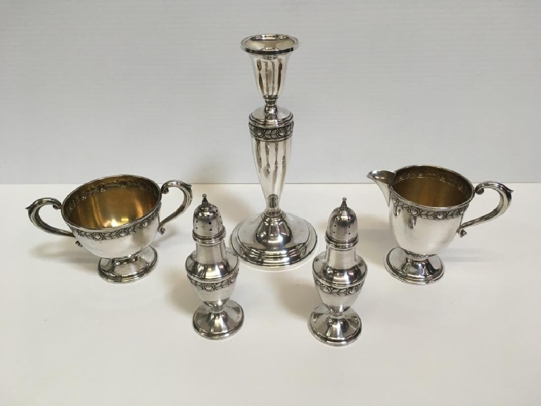 5 PCS OF STERLING HOLLOWWARE - ROYAL ROSE PATTERN