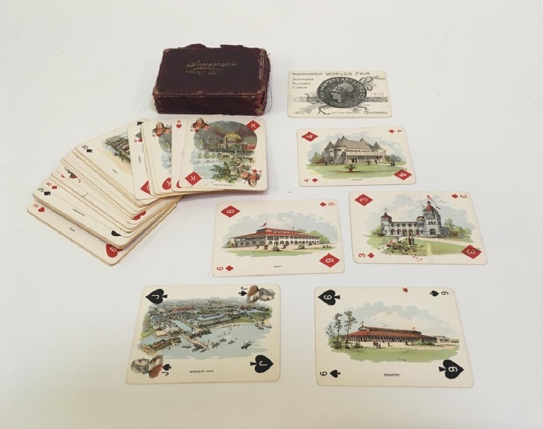 1893 WORLD'S FAIR SOUVENIR PLAYING CARDS IN CASE