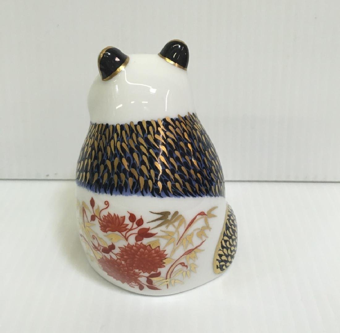 ROYAL CROWN DERBY PANDA FIGURINE - 4