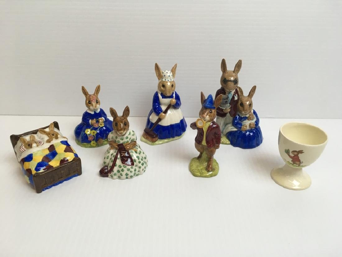 7 PCS OF ROYAL DOULTON BUNNYKIN FIGURINES