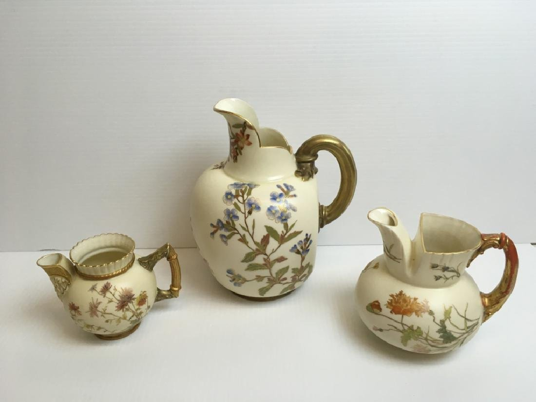 3 PCS OF ROYAL WORCESTER PORCELAIN PITCHERS