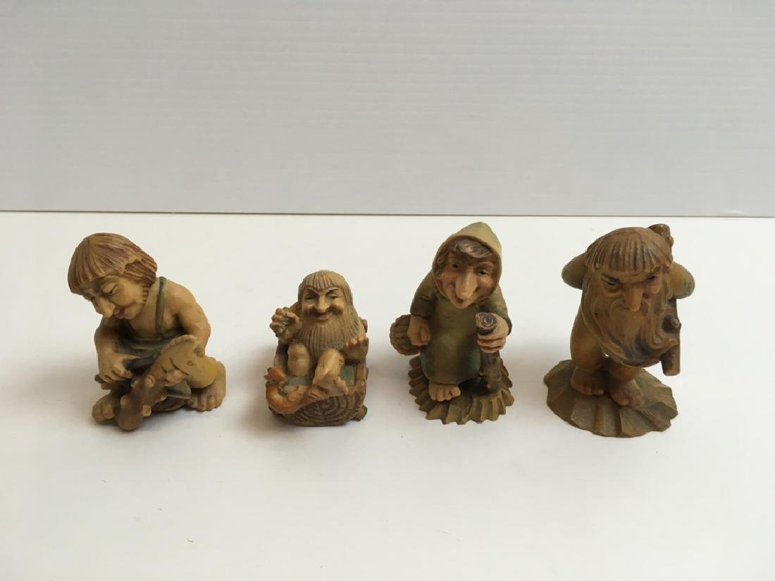 CARVED WOOD ANRI FIGURES & WAX MOLD PLAQUES - 12