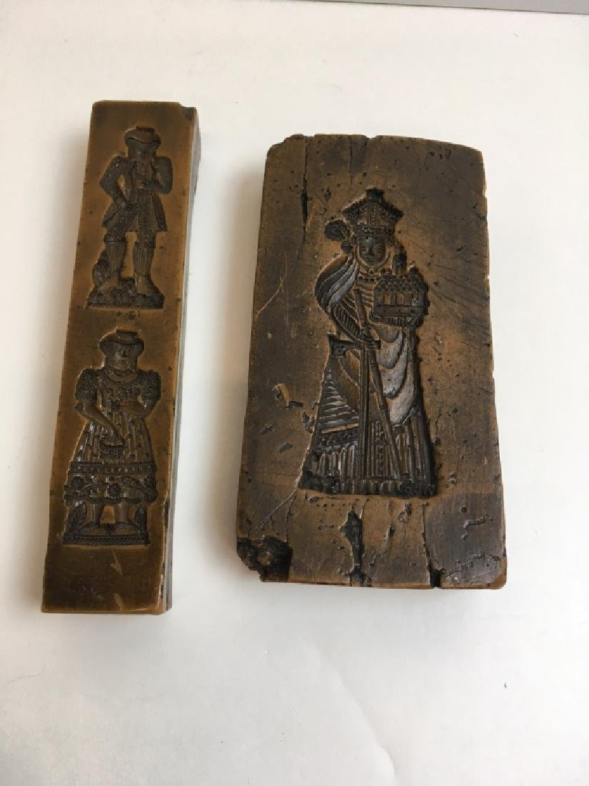 CARVED WOOD ANRI FIGURES & WAX MOLD PLAQUES - 18