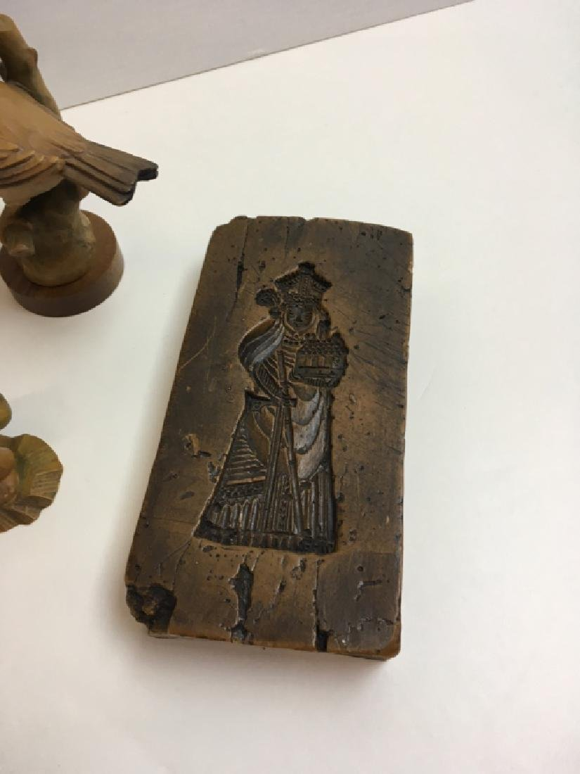 CARVED WOOD ANRI FIGURES & WAX MOLD PLAQUES - 2
