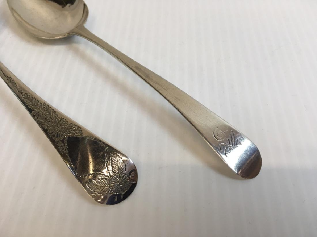 TWO PCS LATE 18TH / EARLY 19TH C LONDON SPOONS - 3
