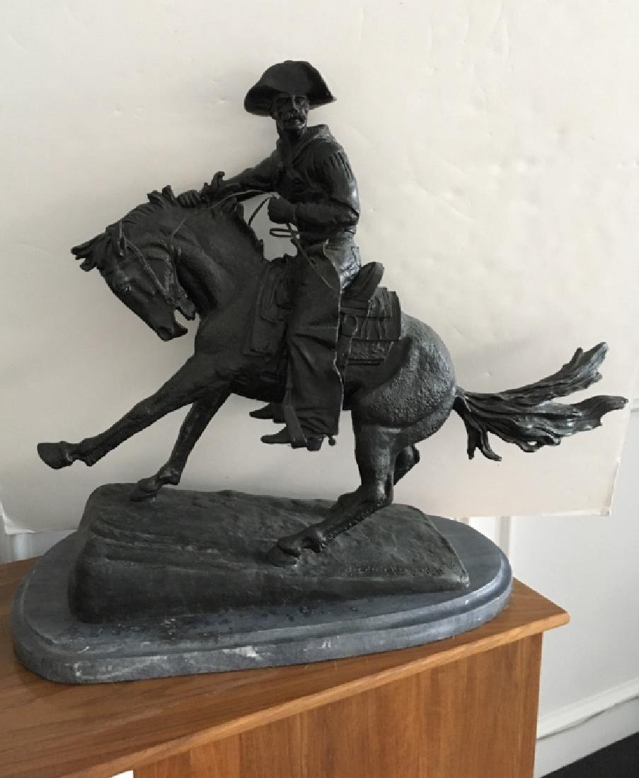 RECAST REMINGTON BRONZE OF THE COWBOY