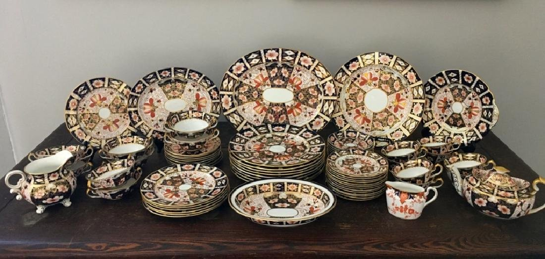 "67 PCS OF ROYAL CROWN DERBY ""TRADITIONAL IMARI"" +"