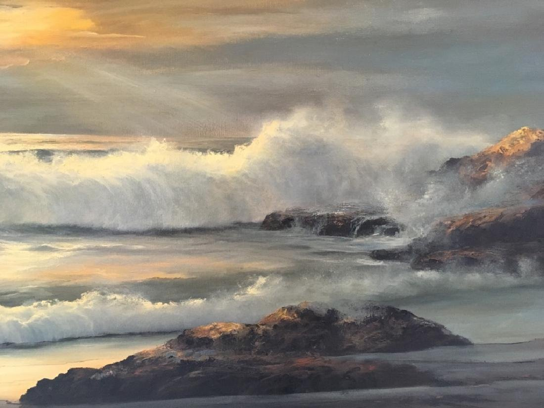 LARGE OIL ON CANVAS SEASCAPE BY WILLIAM HOFFMAN - 7