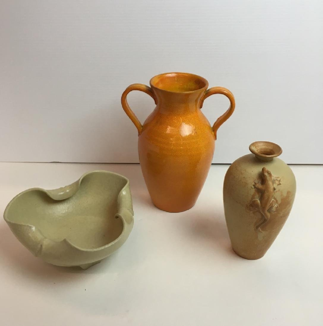 3 PCS OF ART POTTERY