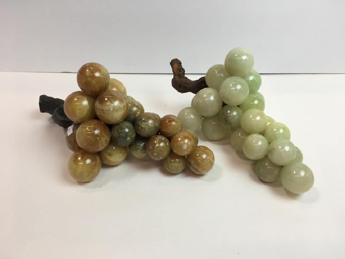2 VINTAGE ONYX GRAPE CLUSTERS
