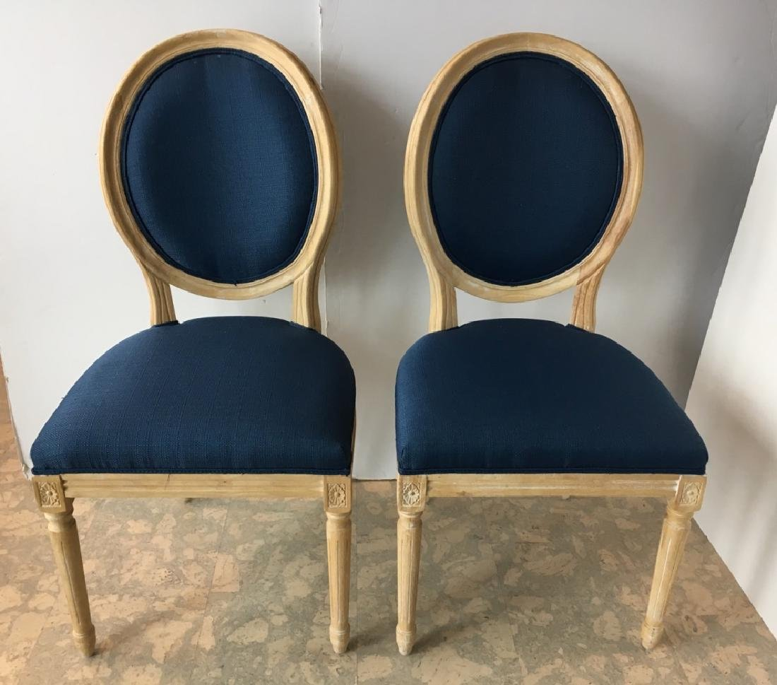 PAIR OF FRENCH LOUIS XVI STYLE SIDE CHAIRS