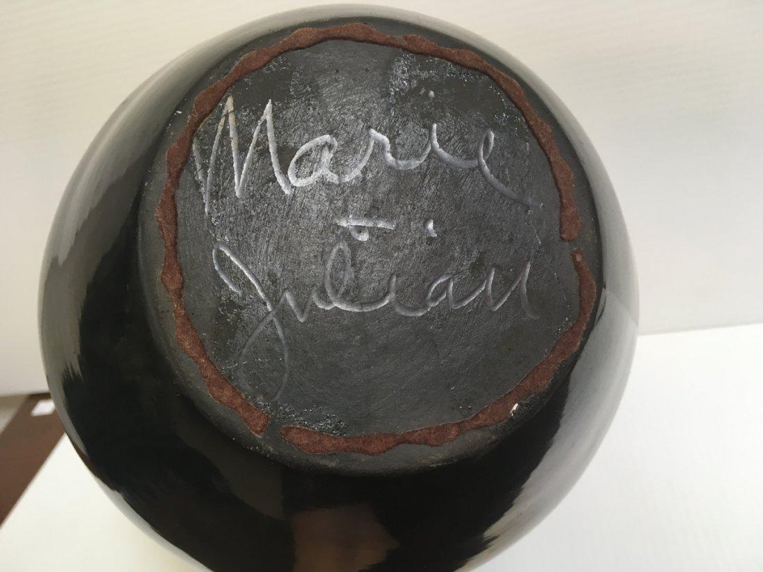 MARIA & JULIAN SIGNED BLACK WARE POTTERY VASES - 19