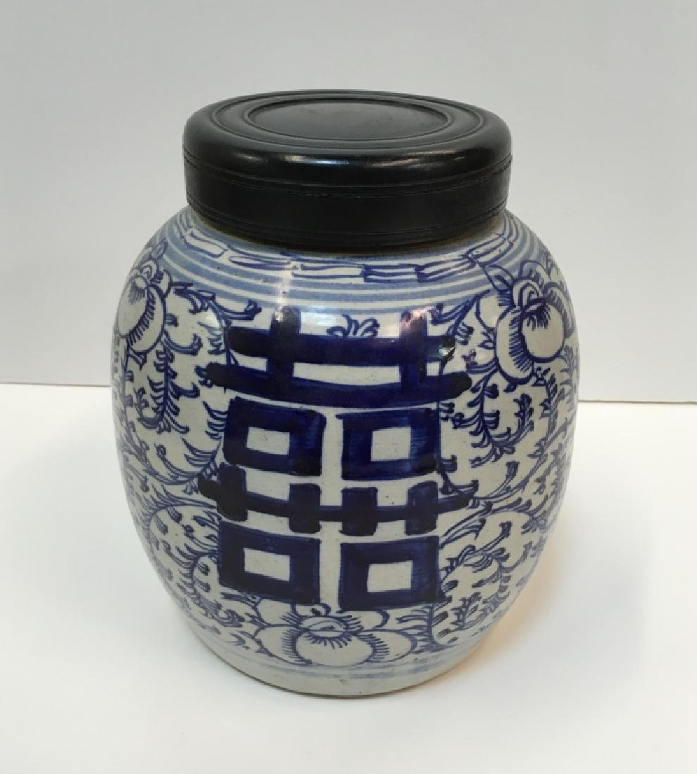CHINESE 19TH C BLUE & WHITE GINGER JAR - 10