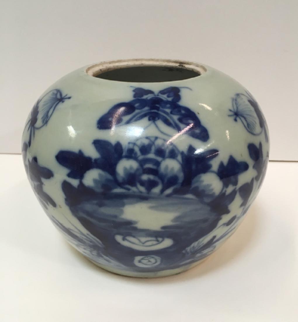 ANTIQUE CHINESE CELADON LIDDED JAR - 8