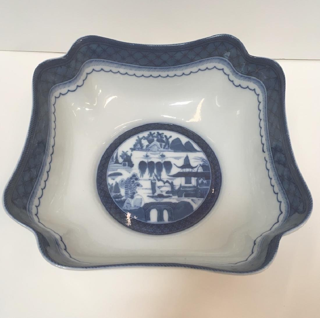 MOTTAHEDEH BLUE CANTON LARGE SQUARE BOWL - 3