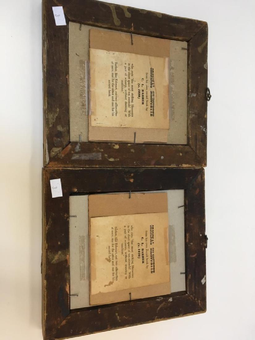 TWO 19TH C PAPER CUT PORTRAIT SILHOUETTES - 4