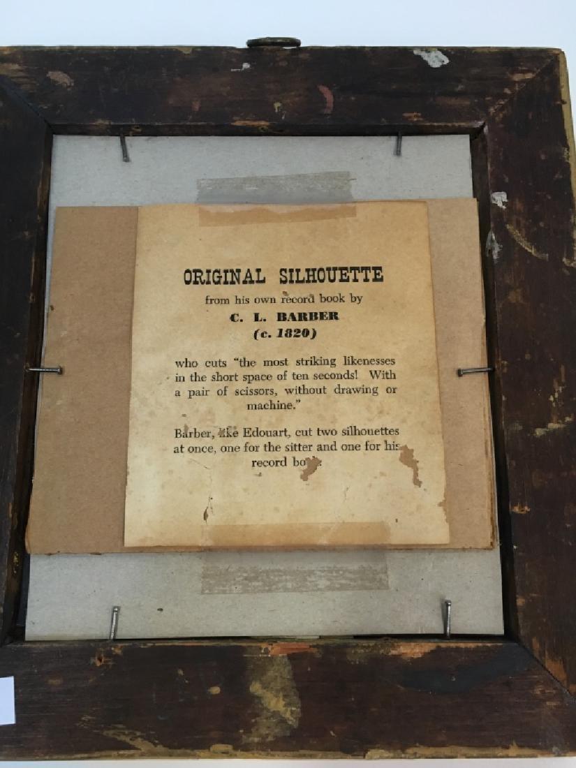 TWO 19TH C PAPER CUT PORTRAIT SILHOUETTES - 5