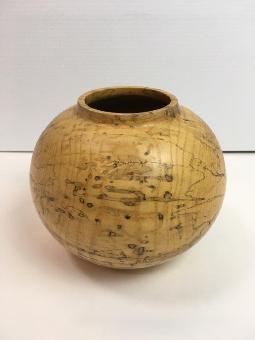 JERRY WEDEKIND TURNED SPALTED HACKBERRY BOWL