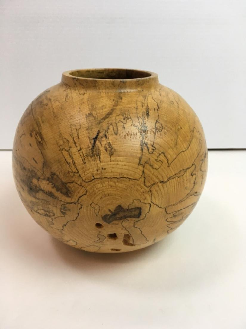 JERRY WEDEKIND TURNED SPALTED HACKBERRY BOWL - 2