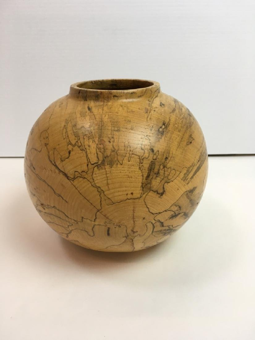 JERRY WEDEKIND TURNED SPALTED HACKBERRY BOWL - 4